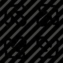 arrow, arrows, directional, enlarge, indicator, open