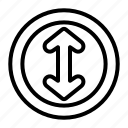 arrow, arrows, directional, indicator, interface, resize, vertical