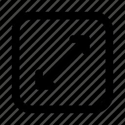 arrow, arrows, direction, fullscreen, move, thin, upscale icon