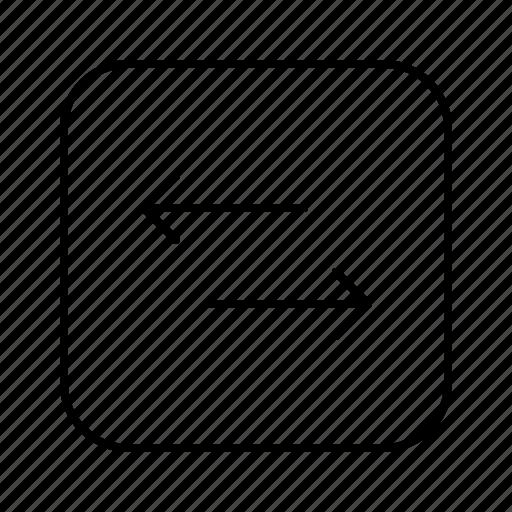 arrow, arrows, direction, move, straight, sync icon