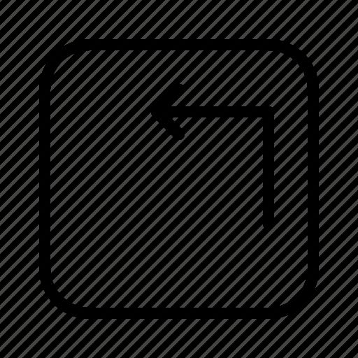 arrow, arrows, corner, direction, move, top icon