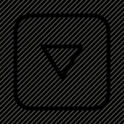 arrow, arrows, direction, down, move, small icon