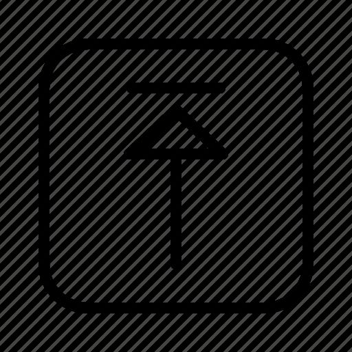 arrow, arrows, direction, move, upload icon
