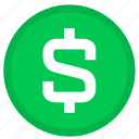 cash, currency, dollar, ecommerce, money, payment, round icon