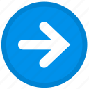 arrow, last, next, right, round icon