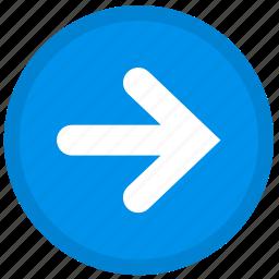 arrow, last, next, right, round icon