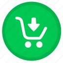 cart, arrow, buy, down, ecommerce, payment, shopping