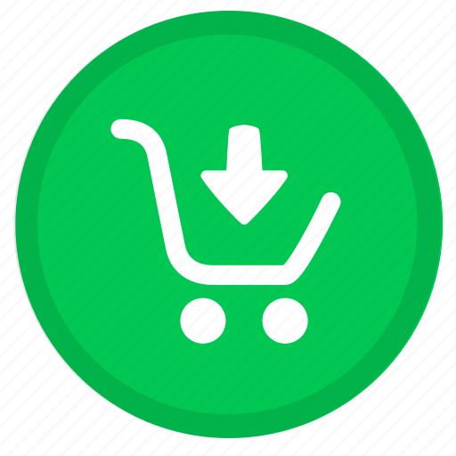 arrow, buy, cart, down, ecommerce, payment, shopping icon