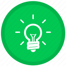 bulb, electric, electricity, idea, lamp, light, round icon