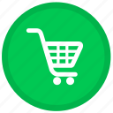 buy, cart, ecommerce, round, shopping icon