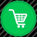 cart, buy, ecommerce, shopping, round