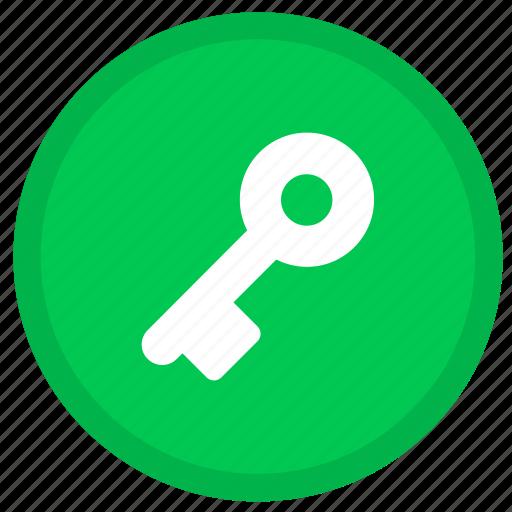 key, lock, locked, password, round, safe, security icon