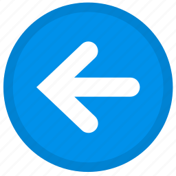 arrow, back, direction, left, round icon