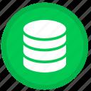 server, cloud, data, database, storage, round