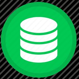 cloud, data, database, round, server, storage icon