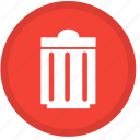 cancel, close, delete, exit, remove, trash, trashcan icon