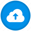 cloud, upload, arrow, up, round