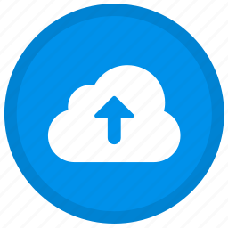 arrow, cloud, round, up, upload icon