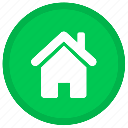 building, home, homepage, house, office, round icon