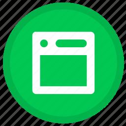 browser, communication, internet, online, round, web icon