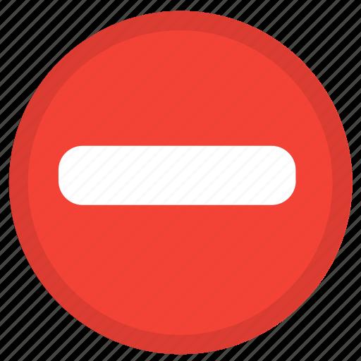cancel, close, delete, minus, remove, round icon