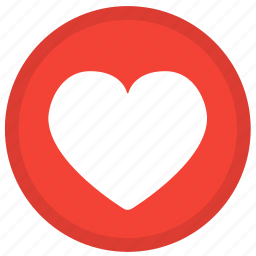 favorite, heart, like, love, round, valentine, valentines icon