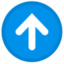 arrow, upload, direction, up, round