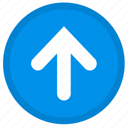 arrow, direction, round, up, upload icon