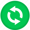 arrow, arrows, refresh, reload, round icon