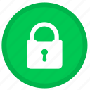 lock, locked, password, round, safe, safety, security icon