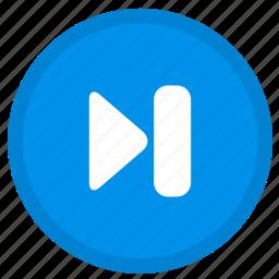 arrow, direction, forward, next, round icon