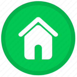 building, home, house, office, round icon