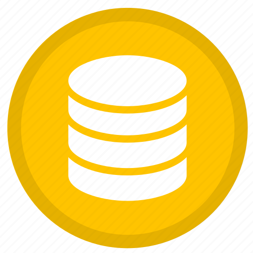 cloud, data, database, round, server, storage icon