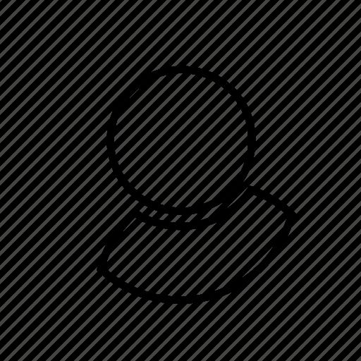 avatar, bubble, contact, human, interface, person, profile icon