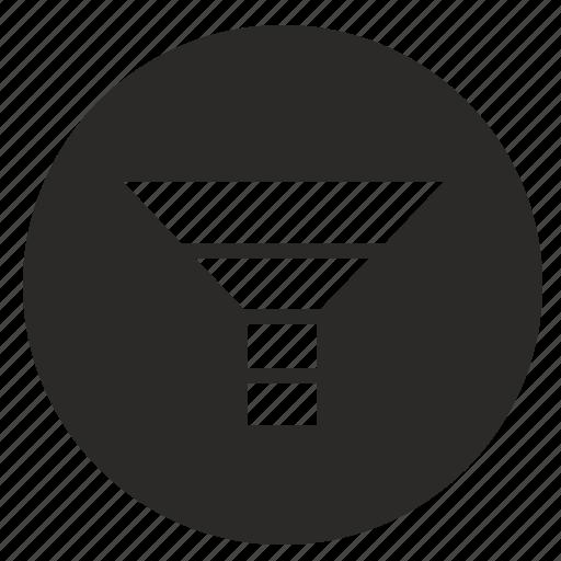 chart, economic, funnel, marketing, mobile, traffic icon