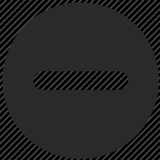 cut, erase, function, minus, mobile, stop icon