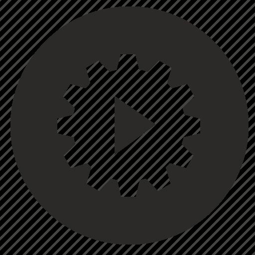 configuration, mobile, settings, start, ui, use icon