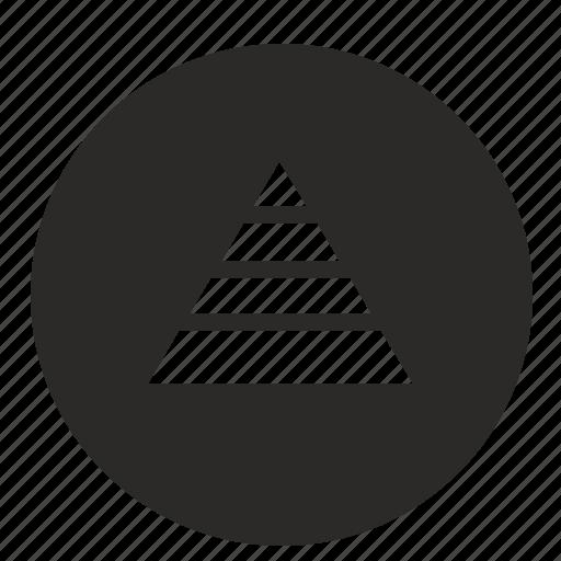 chart, economic, mobile, pyramid, triangle, ui icon