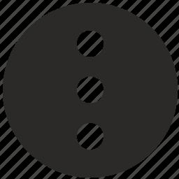 additional, hide, menu, mobile, ui, vertical icon