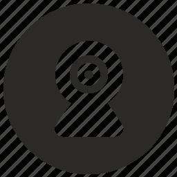 cam, camera, mobile, record, ui, view, web icon