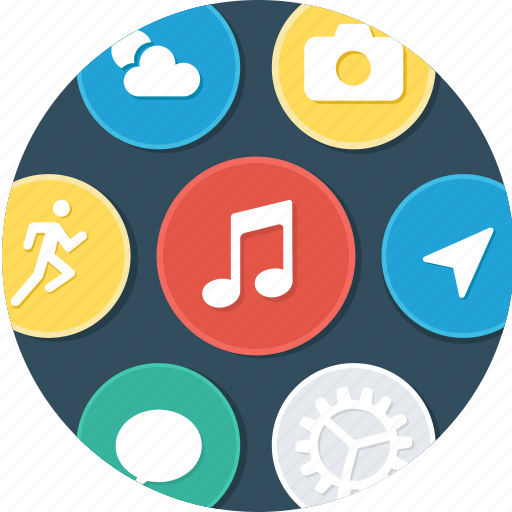 application, apps, menu, spart watch icon