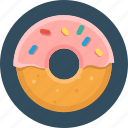 food, donut, pastry