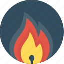fire, matches, open fire icon