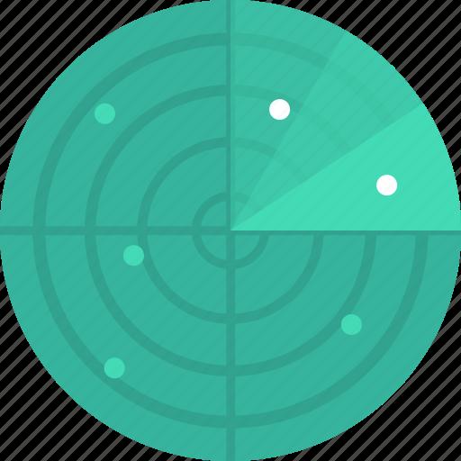 antenna, radar, search icon