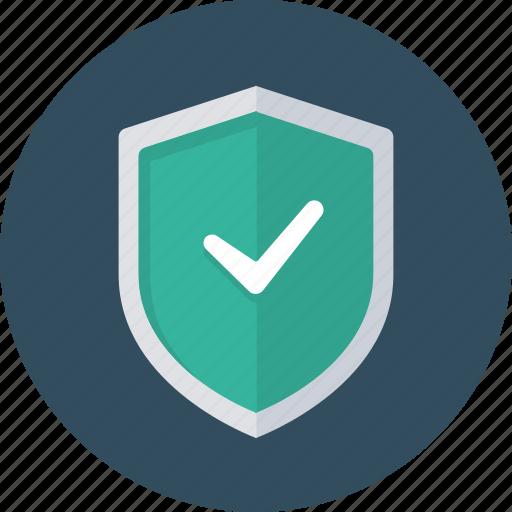 check, shield, success icon
