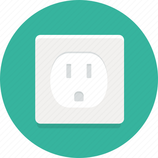 Electricity, electric socket, socket icon