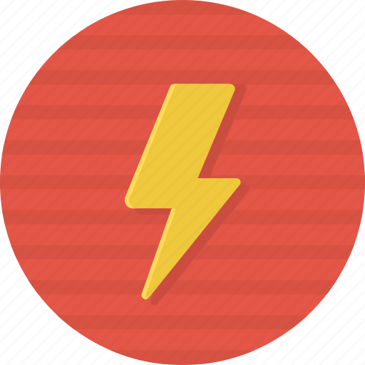 electricity, technology, thunderbolt icon