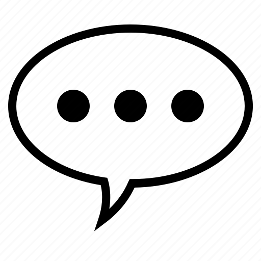 bubble, comment, conversation, speech, speech bubble, speech bubble with three dots, three dots icon