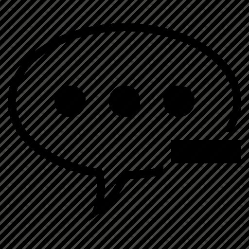 Bubble, comment, conversation, delete comment, remove comment, speech, speech bubble icon - Download on Iconfinder
