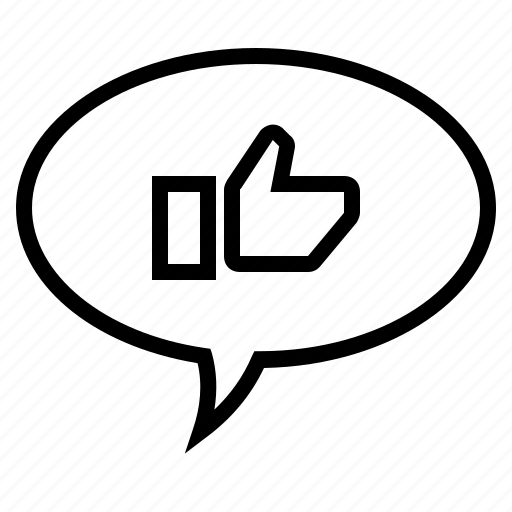 Bubble, comment, conversation, like, speech, speech bubble, thumbs up icon - Download on Iconfinder
